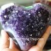 Trái tim nhỏ thạch anh Uruguay H100-6384
