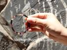 Vòng ngọc hồng lục bảo hạt dẹp S6349-7168