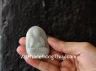 Phật bản mệnh phỉ thúy vân xanh nhạt tuổi Ngọ S6638-5
