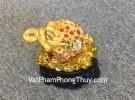 Cóc vàng trên lá sen vàng C064A