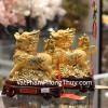 Cặp kỳ lân vàng lăn châu nạp phước C085A