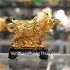 Trâu vàng trên tiền đế gỗ C114A