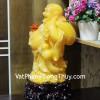 Phật di lạc vàng cam dáng đứng lớn C128A