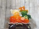 Vua heo ngọc cam ôm hồ lô xanh LN002