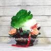 Bắp cải xanh trên giỏ mẫu đơn lá sen LN078