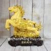 Vua ngựa kim sa vàng trên đế gỗ LN127
