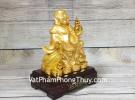 Phật di lạc cầm hồ lô và túi tiền vàng LN189