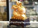 Chuột vàng trên túi tiền vàng lớn TM009