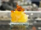 Chuột ngọc vàng cam đế thuỷ tinh TM036