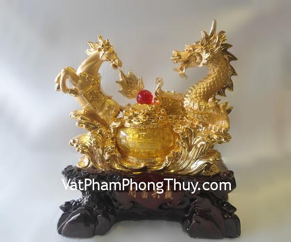 A150 Long ma 3 Hong Kong feng shui gold dragon horse A150