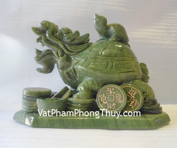 Long Quy Cong Con M144 2 Feng shui turquoise stones dragon turtle M144