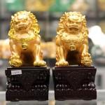 c125a cap su tu vang 150x150 Cặp sư tử vàng đế gỗ C125A