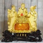 ln112 tam da sa kim vang 2 150x150 Tam đa phước lộc thọ vàng kim sa bên hũ vàng lưu ly LN112