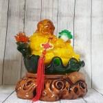 ln186 phat di lac luu ly 150x150 Phật di lạc cam vàng tay cầm như ý và bắp cải LN186