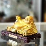 ln190 phat di lac vang 150x150 Phật di lạc tay cầm nén vàng trên túi tiền LN190