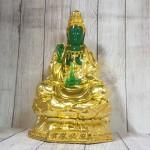 ln194 quan am xanh ngoc 2 150x150 Phật quan âm xanh ngọc trên đài sen LN194