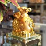 tm020 chuot vang de thuy tinh 2 150x150 Chuột vàng ôm thơm vàng đế thủy tinh TM020